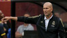 Zidane, durante el Real Madrid – Arsenal.