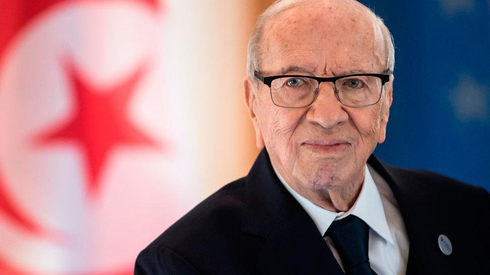El presidente de Túnez, Beji Caid Essebsi, una figura clave en la política tunecina y, más recientemente, en la transición democrática iniciada en 2011, ha muerto este jueves a los 92 años de edad. Foto: EP