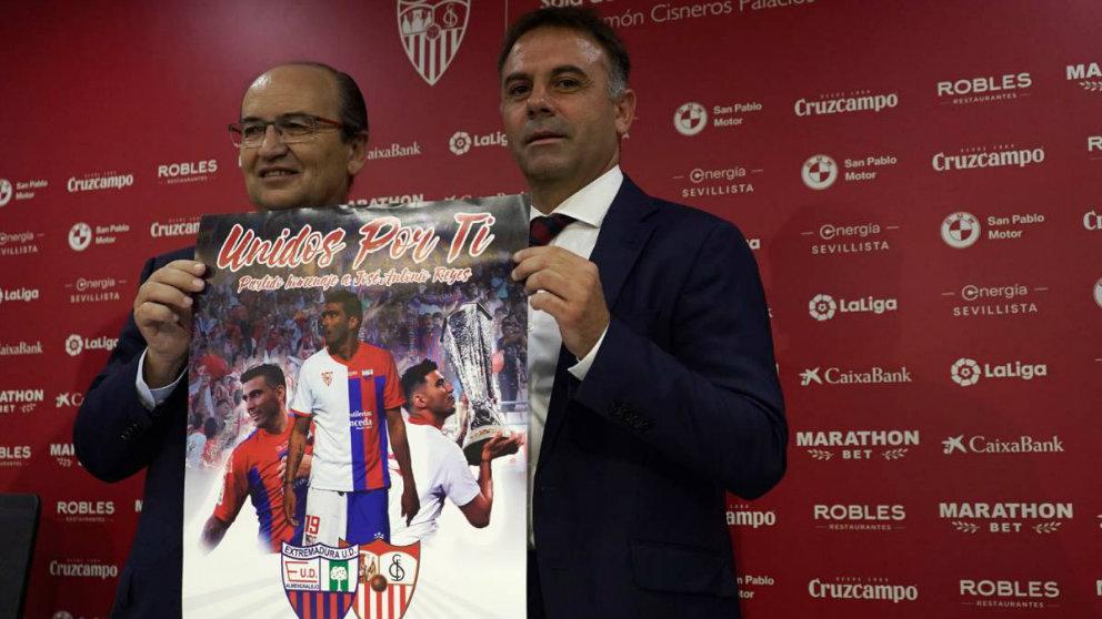 José Castro y Manuel Franganillo presentan el partido homenaje a José Antonio Reyes (@EXT_UD)