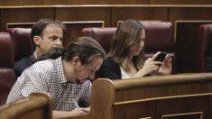 Pablo Iglesias durante la sesión de investidura en el Congreso de los Diputados. (Foto: Francisco Toledo).