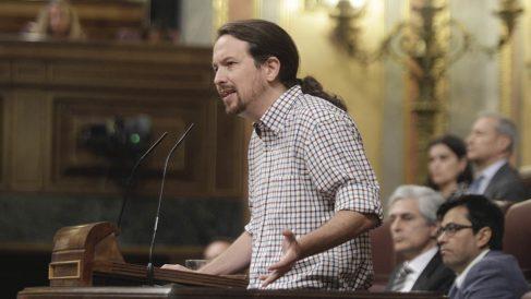 Pablo Iglesias (Podemos), en el Congreso.