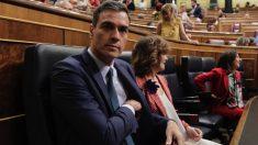 Pedro Sánchez junto a Calvo en el Congreso. Foto: Francisco Toledo