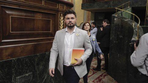 Gabriel Rufián este jueves en el Congreso de los Diputados. (Foto: Francisco Toledo).