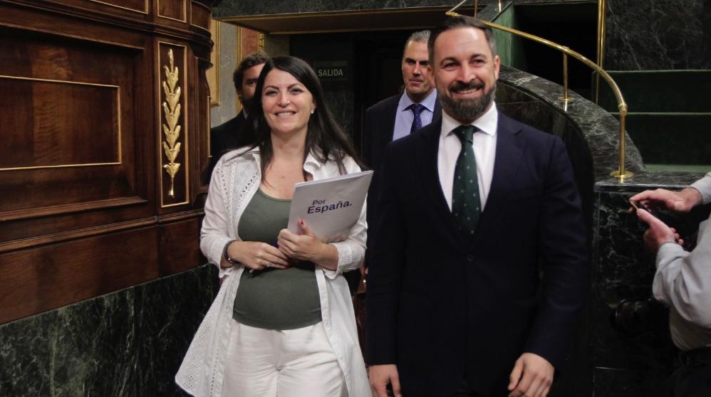 Santiago Abascal y Macarena Olona (Vox).