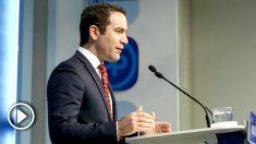 Teodoro García Egea en rueda de prensa. Foto: Europa Press