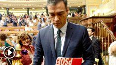 Pedro Sánchez, saliendo de la fallida sesión de investidura. (Foto: Francisco Toledo / Okdiario)
