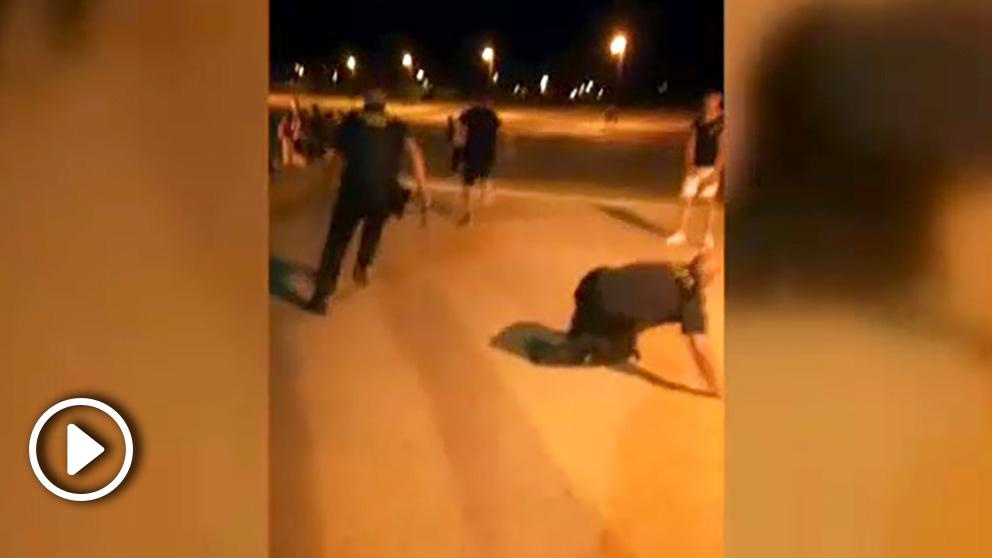Intervención de la Guardía Civil en las fiestas de Albal, Valencia.