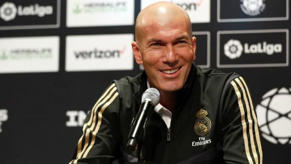 Zidane, en rueda de prensa. (RealMadrid)