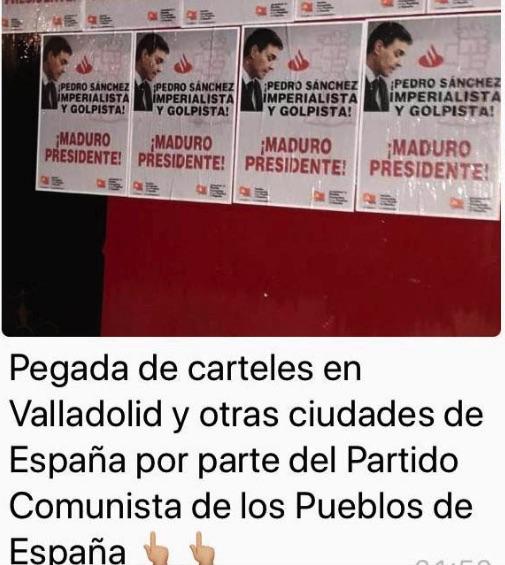 Anuncio de la Embajada chavista sobre su colaboración con partidos comunistas.