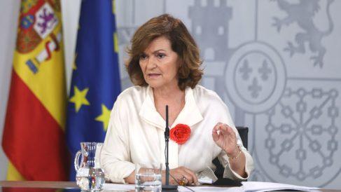 La vicepresidenta del Gobierno en funciones, Carmen Calvo (Foto: Europa Press)