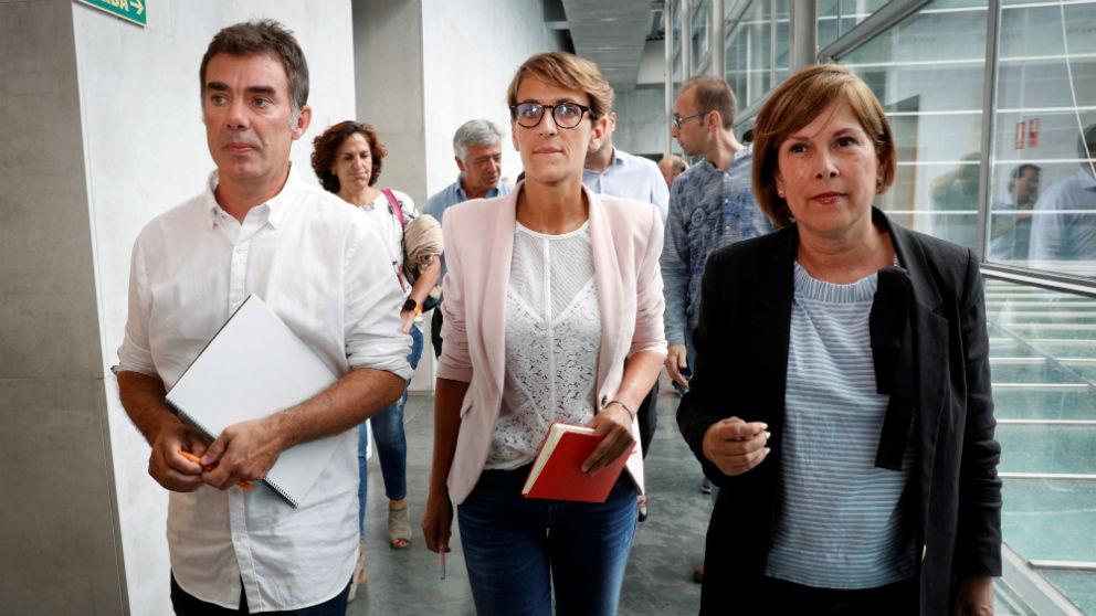 María Chivite, junto a Eduardo Santos (Podemos).