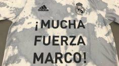 La camiseta que lucirán los jugadores del Real Madrid, en homenaje a Marco Asensio.