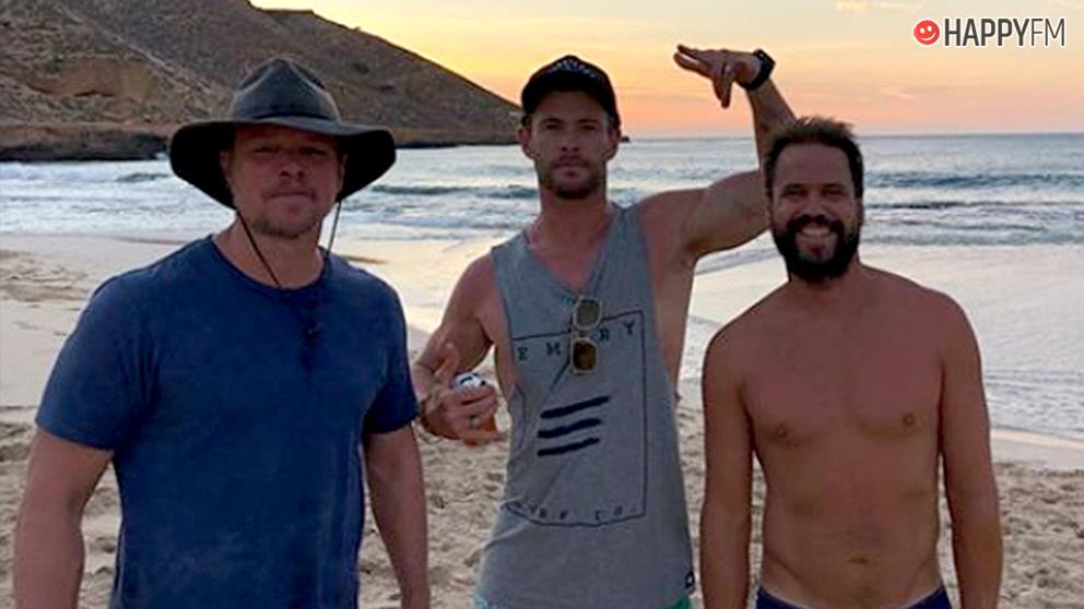 Matt Damon y Chris Hemsworth, juntos de vacaciones