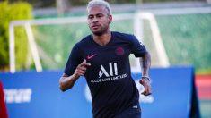 Neymar, durante un entrenamiento. (PSG)