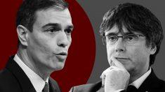 Peddro Sánchez y Carles Puigdemont
