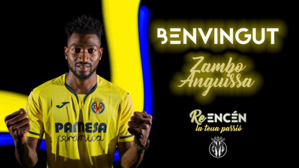 Zambo Anguissa, nuevo fichaje del Villarreal )Villarreal Club de Fútbol)