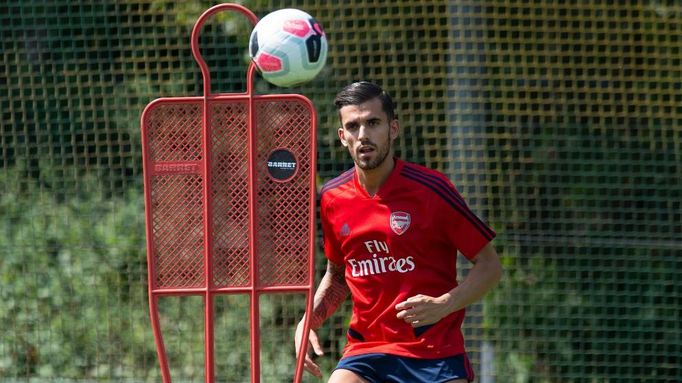 Dani Ceballos, durante un entrenamiento con el Arsenal. (@Arsenal)