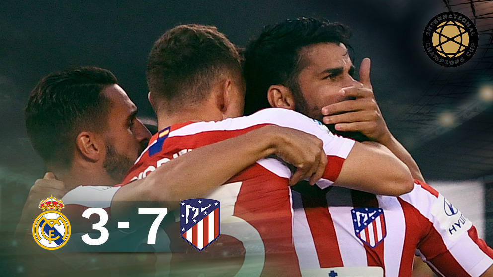 El Atlético goleó al Madrid en Nueva York