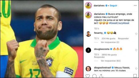Dani Alves no encuentra equipo y busca trabajo.