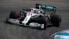 Lewis Hamilton saldrá desde la pole en el GP de Alemania de F1. (AFP)