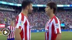 Joao Félix celebra su primer gol como futbolista del Atlético de Madrid.