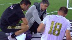 Jovic, atendido por los médicos.