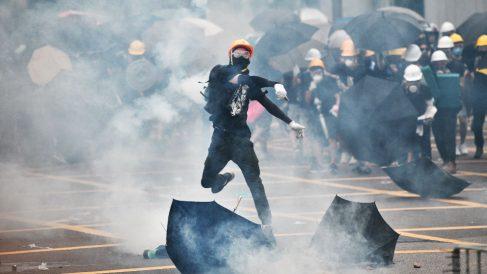 Protestas en Hong Kong. Foto: AFP