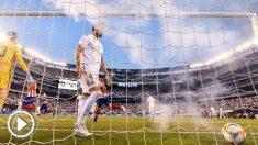 Ramos, durante el Madrid – Atlético. (AFP)
