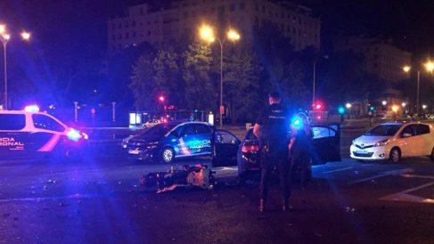 Un motorista falleció tras sufrir un accidente en la Castellana (Foto: EFE)