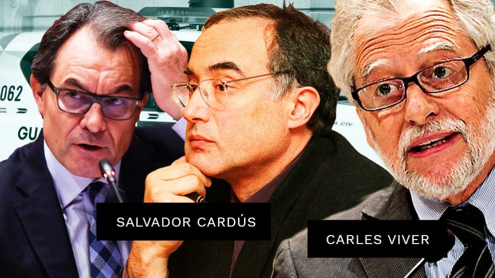 El ex president Artur Mas, el sociólogo Salvador Cardús y el ex presidente del Tribunal Constitucional Carles Viver Pi i Sunyer.