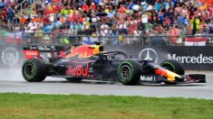 Max Verstappen durante el Gran Premio de Alemania de F1. (AFP)