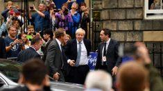 Boris Johnson a su llegada a Escocia @Getty