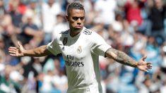 Mariano celebra un gol con el Real Madrid. (Getty)