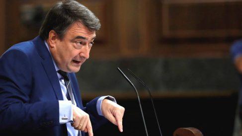El portavoz del PNV en el Congreso, Aitor Esteban, durante una intervención parlamentaria. (Foto: Efe)