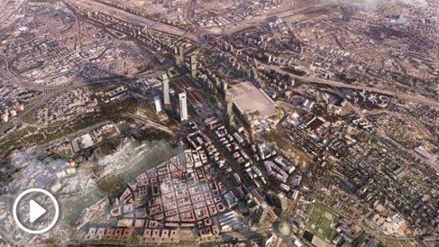 Recreación de Madrid Nuevo Norte (Operación Chamartín).