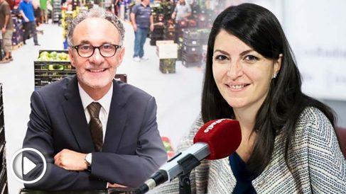 El presidente de Mercasa, José Ramón Sempere, y la diputada de Vox por Granada Macarena Olona.