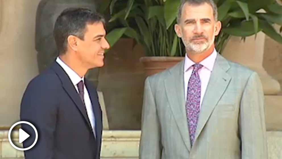El Rey Felipe VI y Pedro Sánchez en una imagen de archivo.