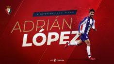 Adrián López, nuevo fichaje de Osasuna (Club Atlético Osasuna)