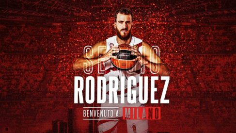 Sergio Rodríguez llega a Milan. (Olimpia Millano)