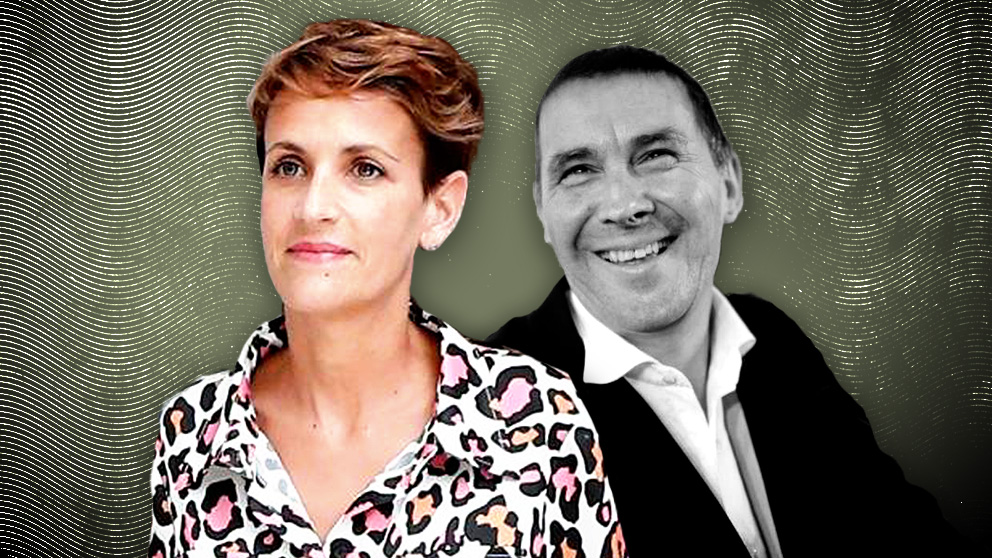 María Chivite y Arnaldo Otegi.