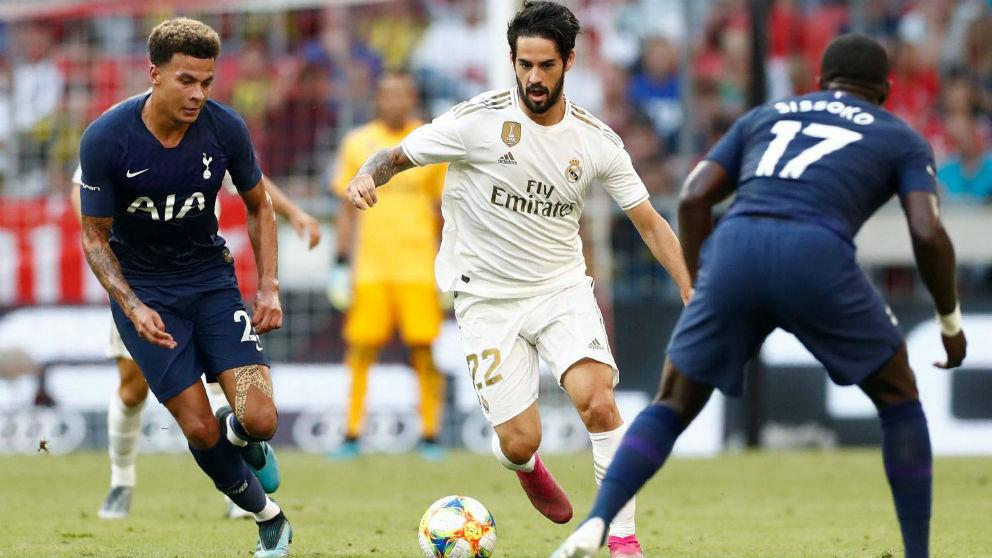 Isco durante el Real Madrid-Tottenham. (realmadrid.com)