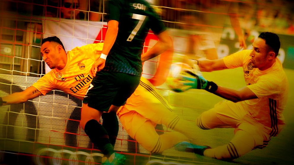Keylor Navas fue el mejor del Madrid ante el Tottenham.