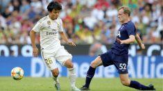 Kubo, en el partido frente al Tottenham. (Getty)