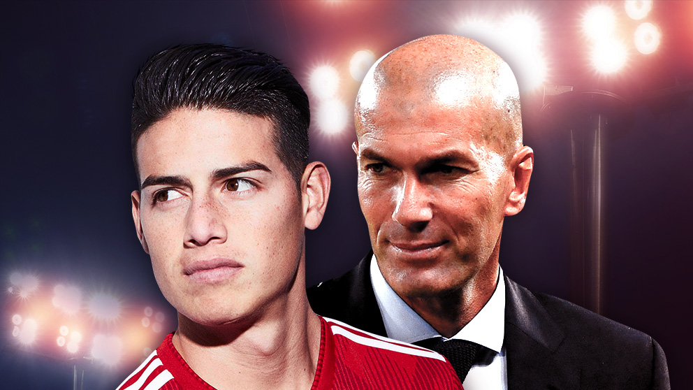 Zidane y James tienen una charla pendiente.