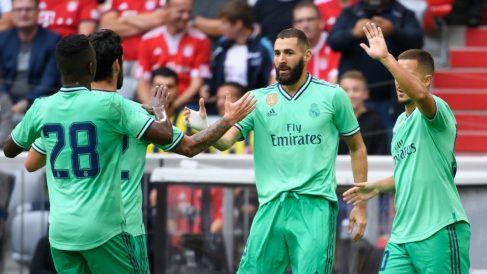 Karim Benzema celebra un