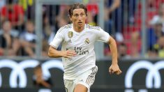Modric, en un partido con el Real Madrid. (Getty)