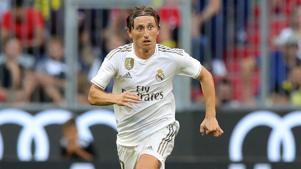Modric, en un partido con el Real Madrid. (Getty)