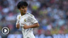 Takefusa Kubo durante un partido. (AFP)