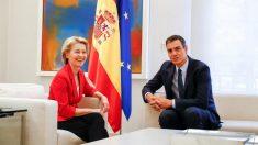 Ursula Von der Leyen con Pedro Sánchez en La Moncloa @EP