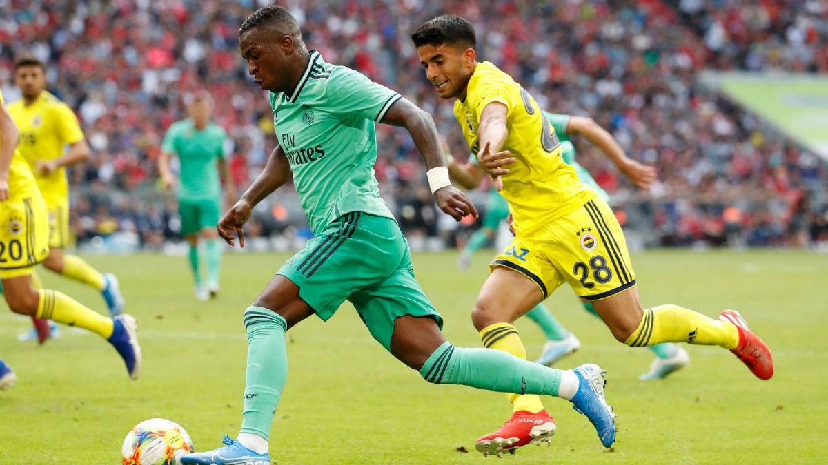 Vinicius, durante el partido ante el Fenerbahce (Realmadrid.com)